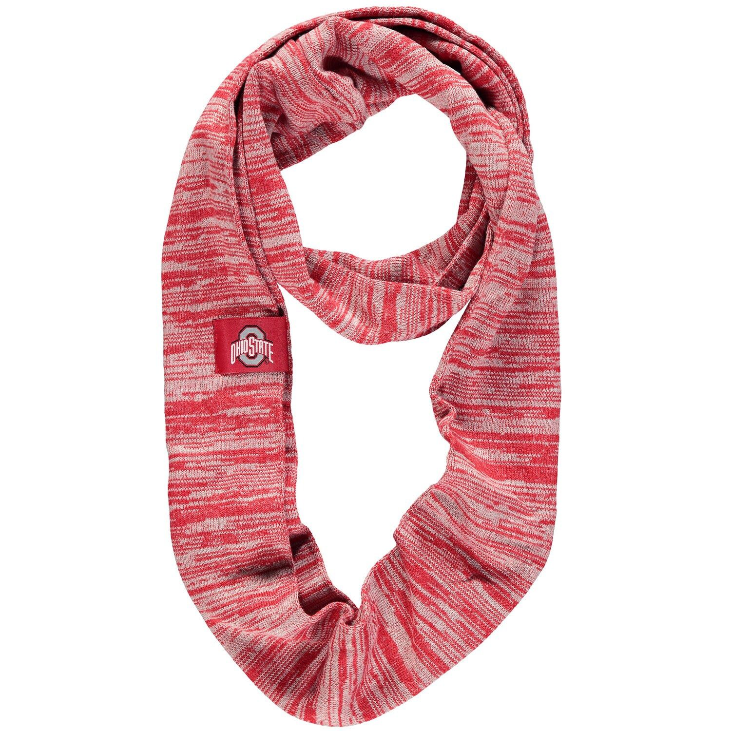 Scarlet Ohio State Buckeyes Colorblend Infinity Scarf