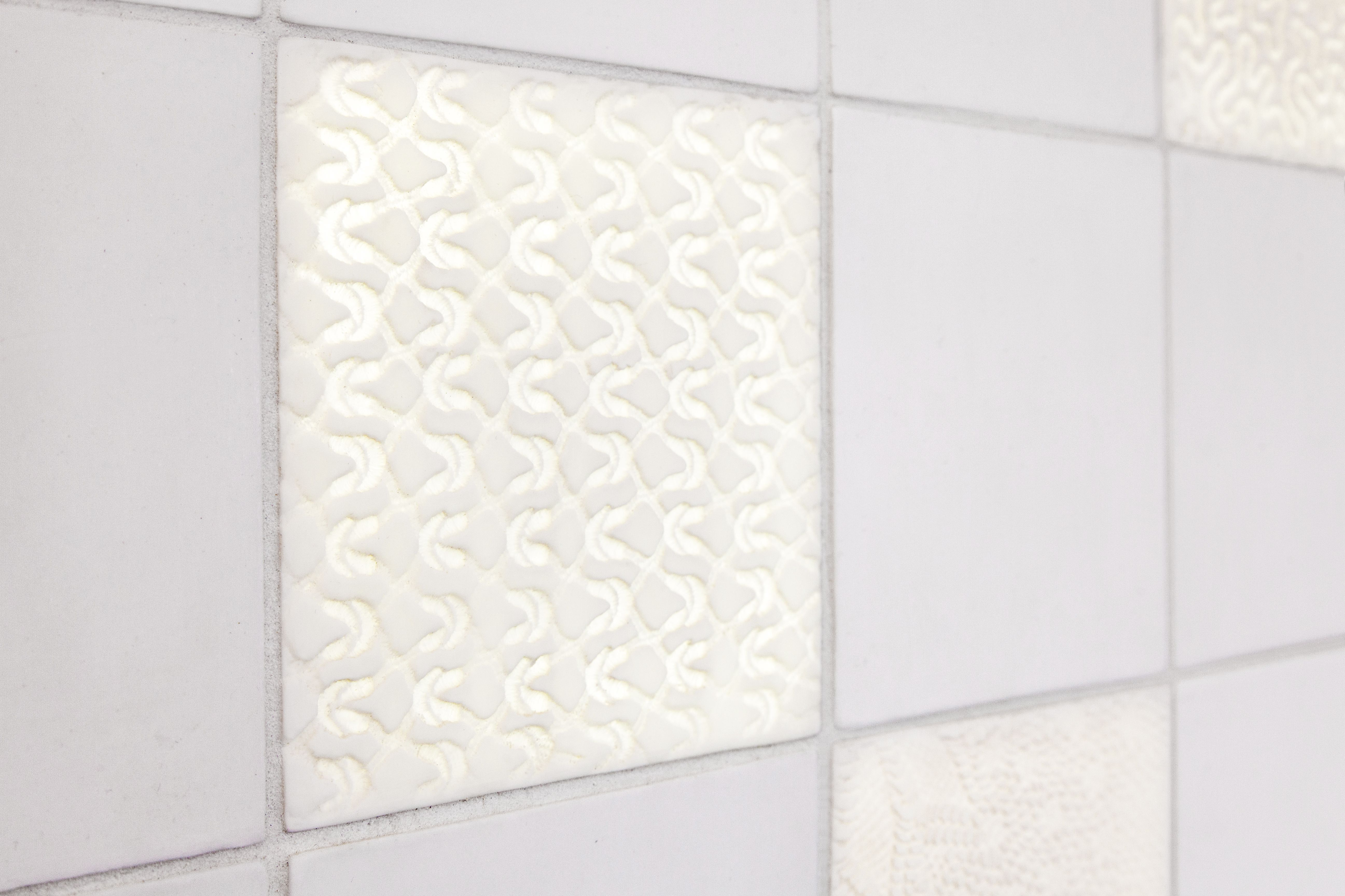 detail of back lit white porcelain tile with texture #tiles ...