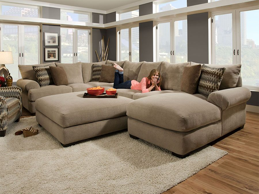 Barracat Taupe Right Side Facing Corner Sofa At Rothman Furniture
