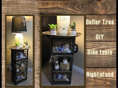 Dollar Tree Diy Side Table Night Stand Youtube Diy Side Table Diy Dollar Tree Decor Dollar Tree Decor