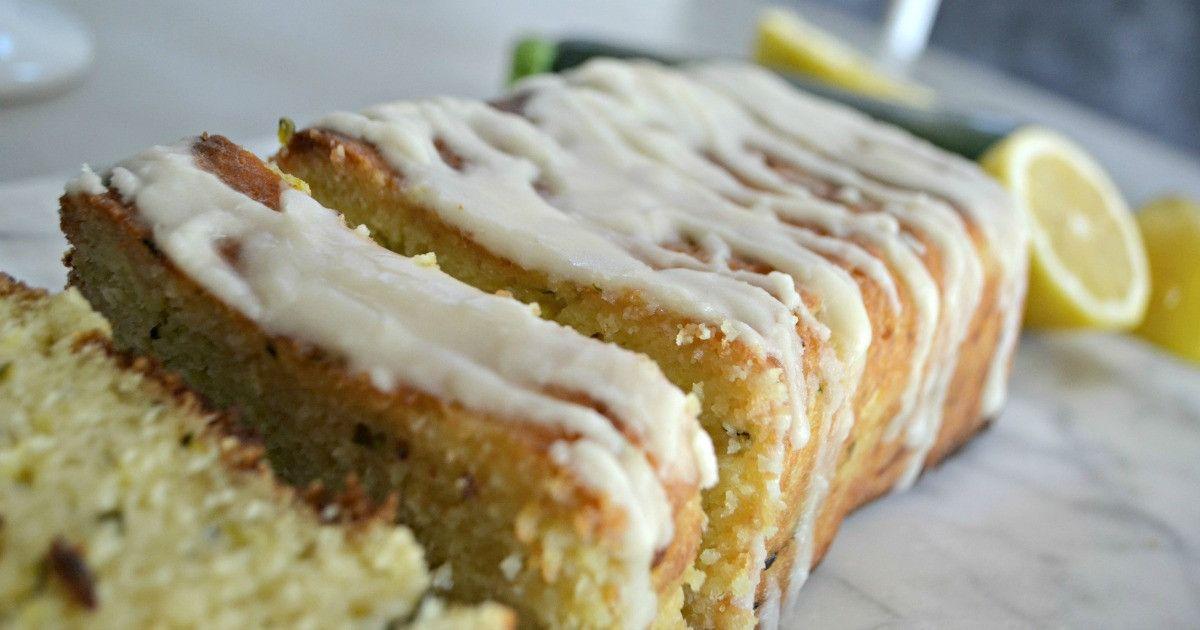 this keto lemon zucchini bread is a slice of heaven