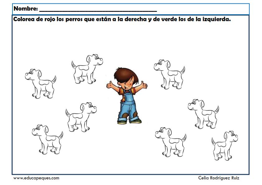 Conceptos Espaciales Y Temporales Fichas Infantil Actividades Espaciales Actividades Para Preescolar Ejercicios De Lateralidad