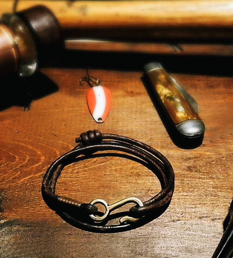 Rum Runner Leather Cord Bracelet by American Bench Craft on Scoutmob