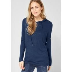 Photo of Cecil – Hoodie Shirt mit Strass in Deep Blue Melange Cecilcecil