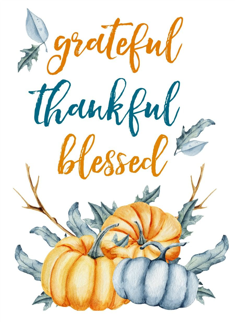 picture relating to Happy Thanksgiving Signs Printable known as Free of charge Thanksgiving and Drop Printables Thanksgiving Blue