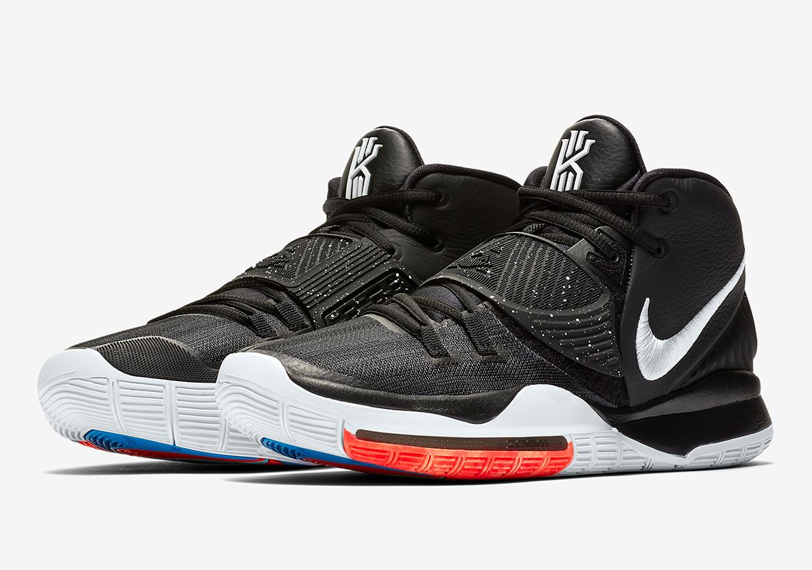 Nike Kyrie 6 Black White Bq4630 001 Release Info Sneakernews Com In 2020 Nike Kyrie Nike Men Black Running Shoes