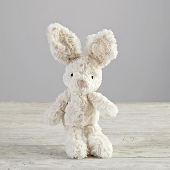 Small White Bunny Stuffed Animal The Land Of Nod Nursery Bunny
