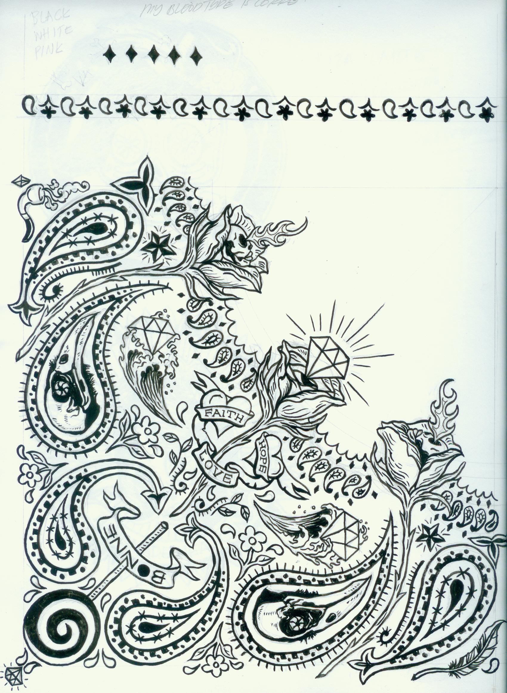 Bandana Tattoo Designs Bandana Design Related Tattoo