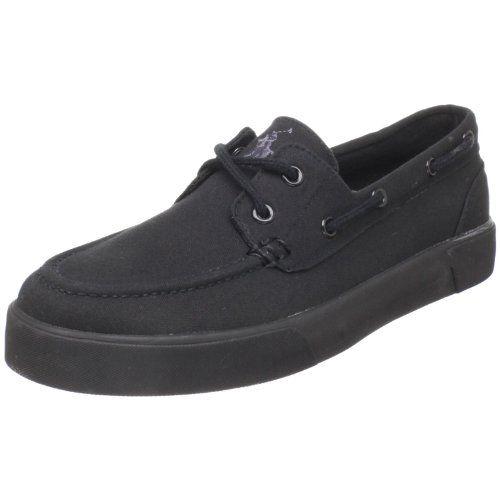 47c3ab737cd35 Amazon.com: Polo Ralph Lauren Men's Lander Boat Shoe: Color: Black ...