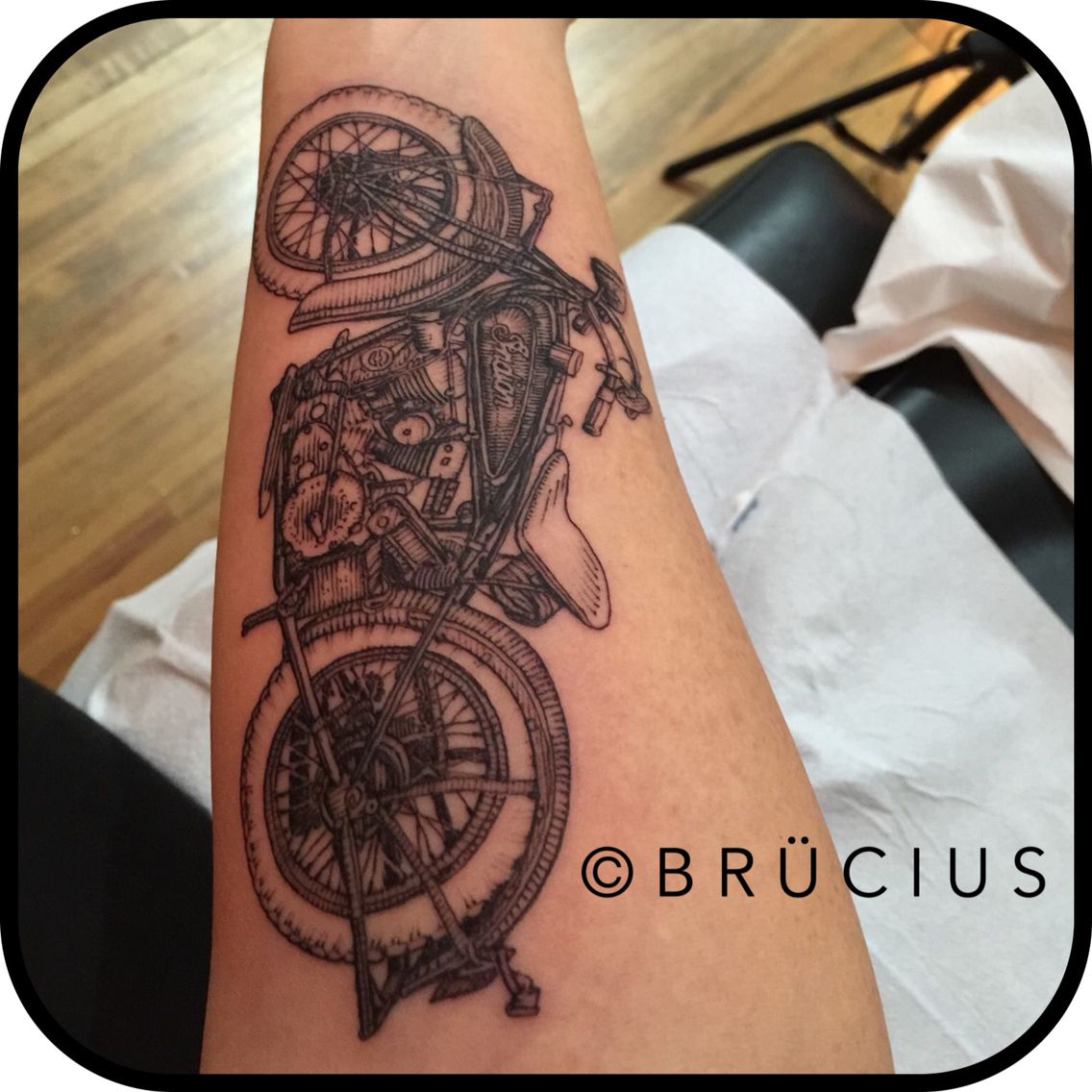 Br cius tattoo sf sanfrancisco brucius engraving for Indian motorcycle tattoo
