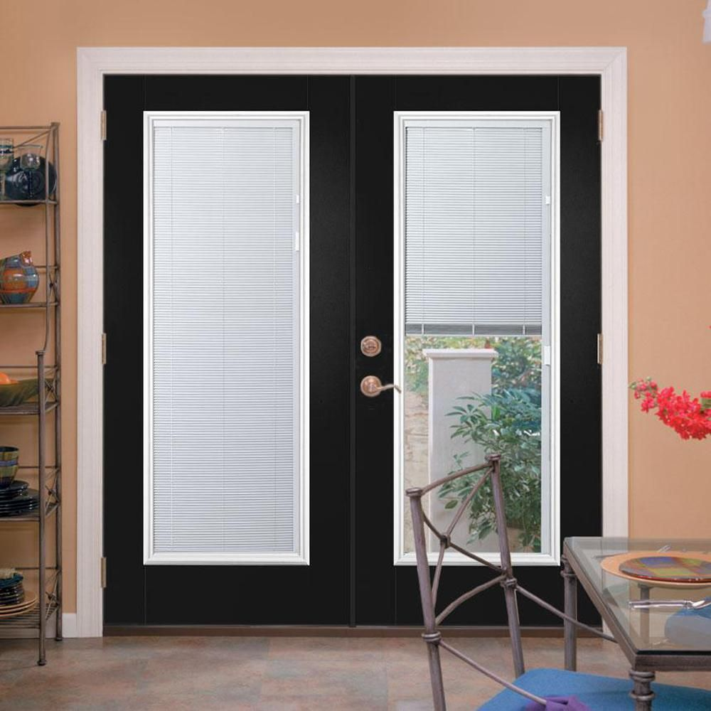Mp Doors 60 In X 80 In Smooth White Left Hand Composite Pg50 Sliding Patio Door With Built In Blinds G5068l002wl50 The Home Depot Sliding Doors Interior Vinyl Sliding Patio Door Patio