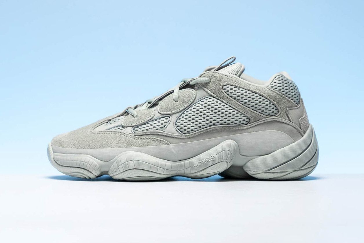 ff7f5f8e57656 adidas YEEZY 500 Salt Closer Look Light Grey Blue Colorway For Sale Retail  Information Release Date