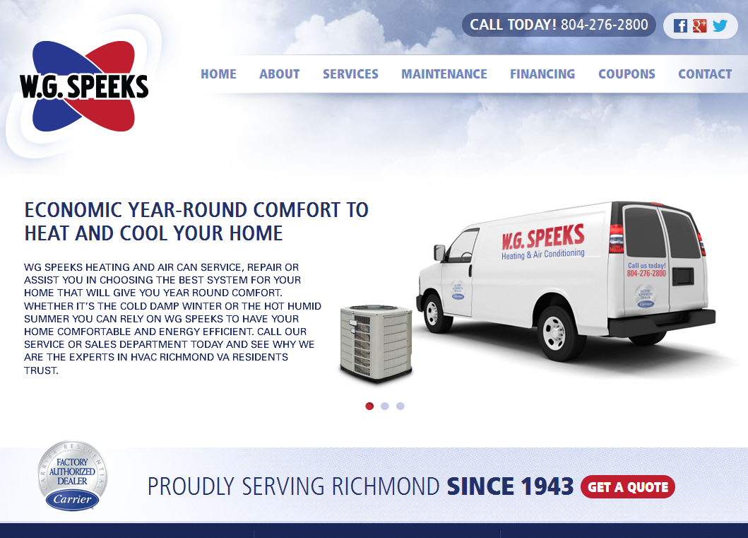 W G Speeks Www Wgspeeks Com Service Maintenance Air Heating