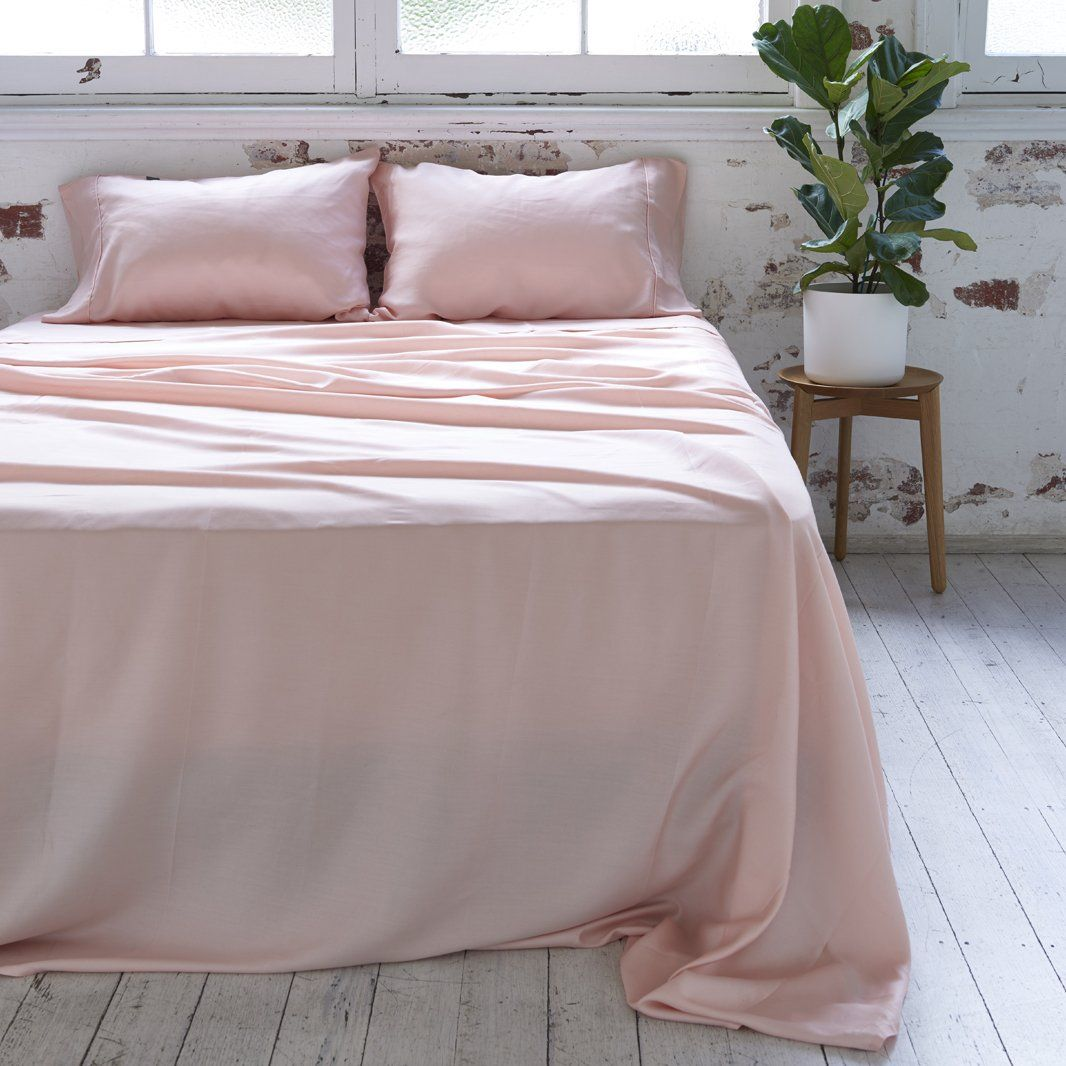 Bamboo Lyocell Sheet Set Cheap Bed Sheets Pink Bedroom Decor