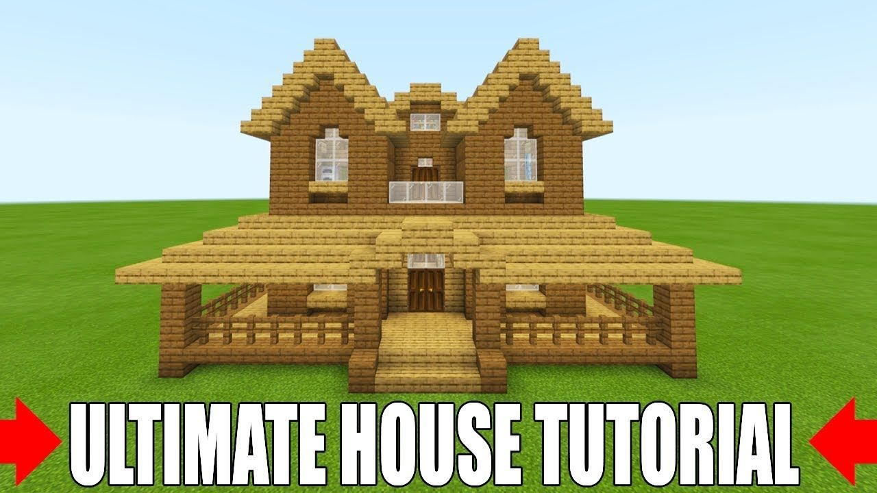 Minecraft Tutorial How To Make The Ultimate Wooden Starter House 2 Everything You Need To Survive Youtube Starter Home Minecraft Tutorial House 2