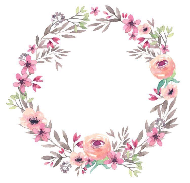 تصميم مواليد ثيمات خلفيات Cute Picsart تصاميم امي ابي Baby ادوات قلب اطفال ملصق افتار هيدر بنت Girls و Floral Watercolor Floral Flower Frame