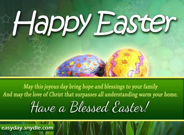 Easter Greetings Messages and Religious Easter Wishes – Easter Messages for Cards