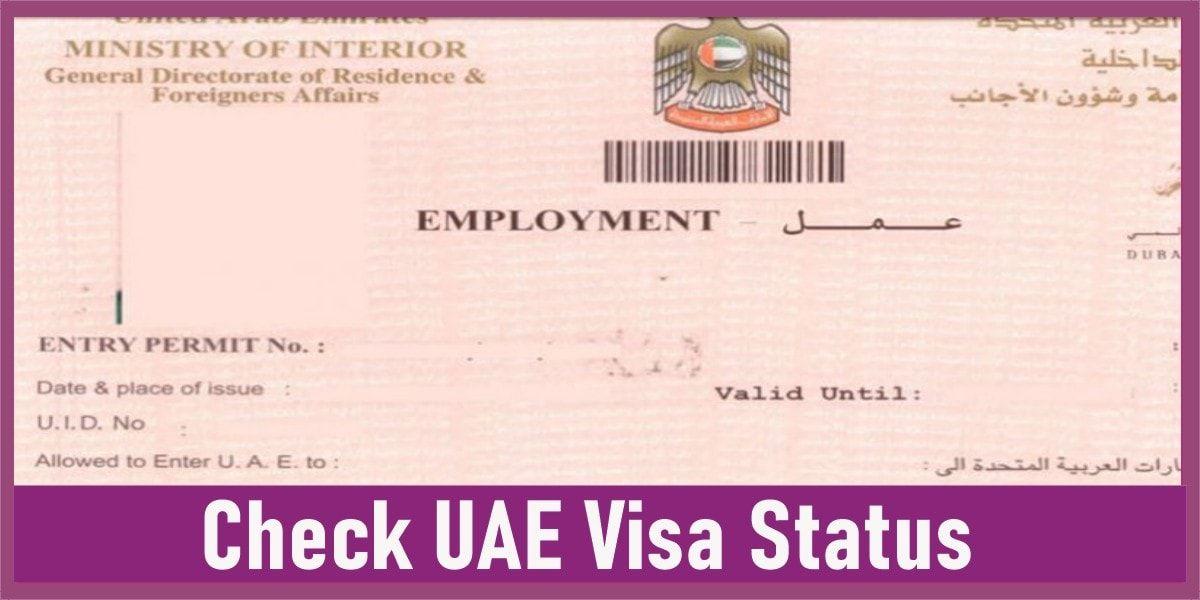 How To Check Uae Visa Status With Passport Number Passport
