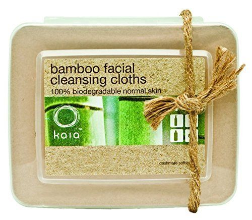 Kaia Naturals Juicy bamboo facial cleansing cloths