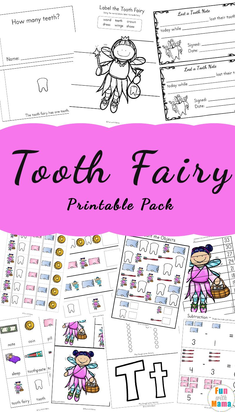 Tooth Fairy Ideas and Activities With Printable Tooth Fairy Letter ...