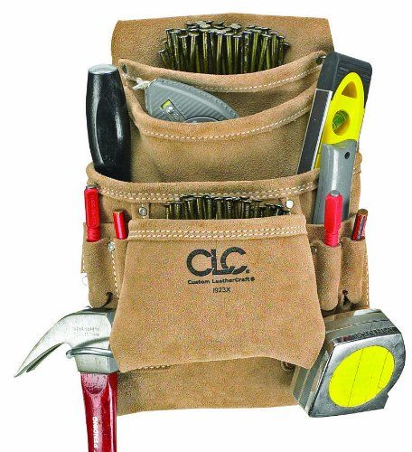 custom leathercraft i923x suede carpenter's nail and tool bag, 10 ...