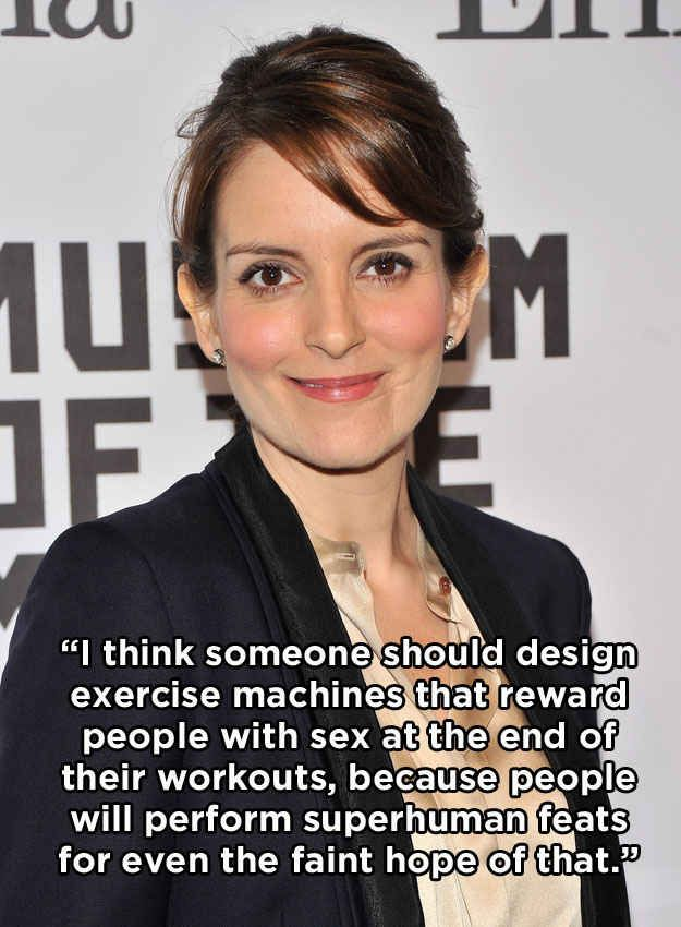 Tina Fey.   Tina fey, Funny quotes, Women humor