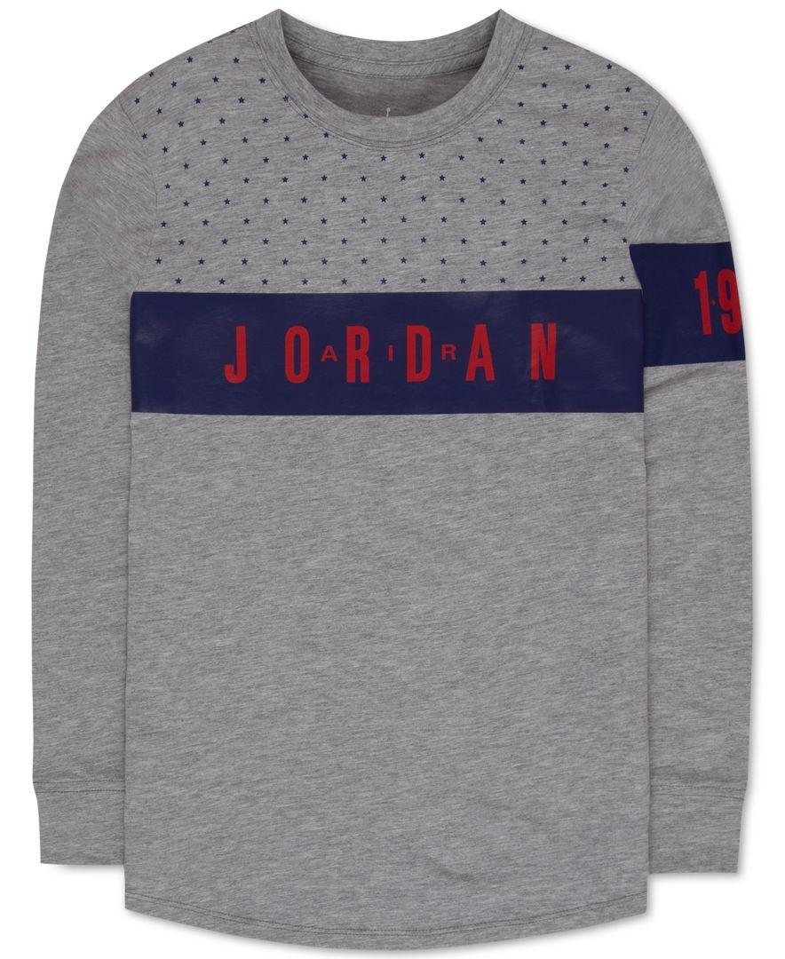 72746fa9582 Jordan Boys  Long-Sleeve Graphic-Print T-Shirt