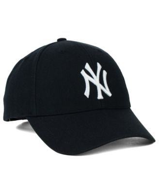 47 Brand New York Yankees Mvp Curved Cap - Black Adjustable in 2019 ... 64ec3cd1a08