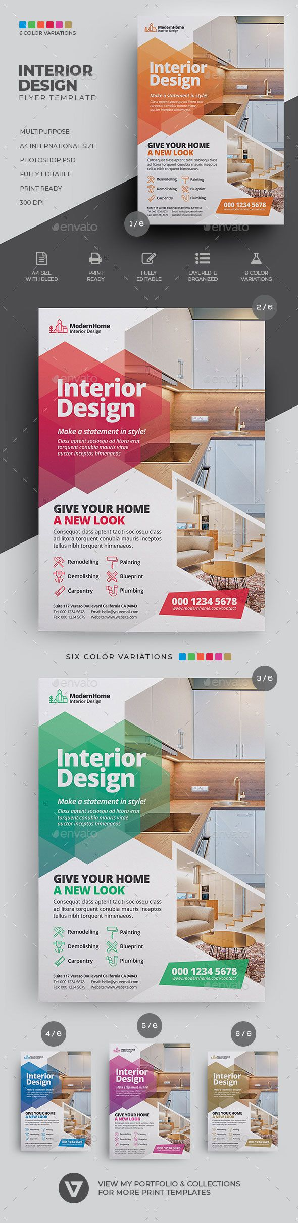 Interior Design Flyer Flyer Design Interior Design Resume