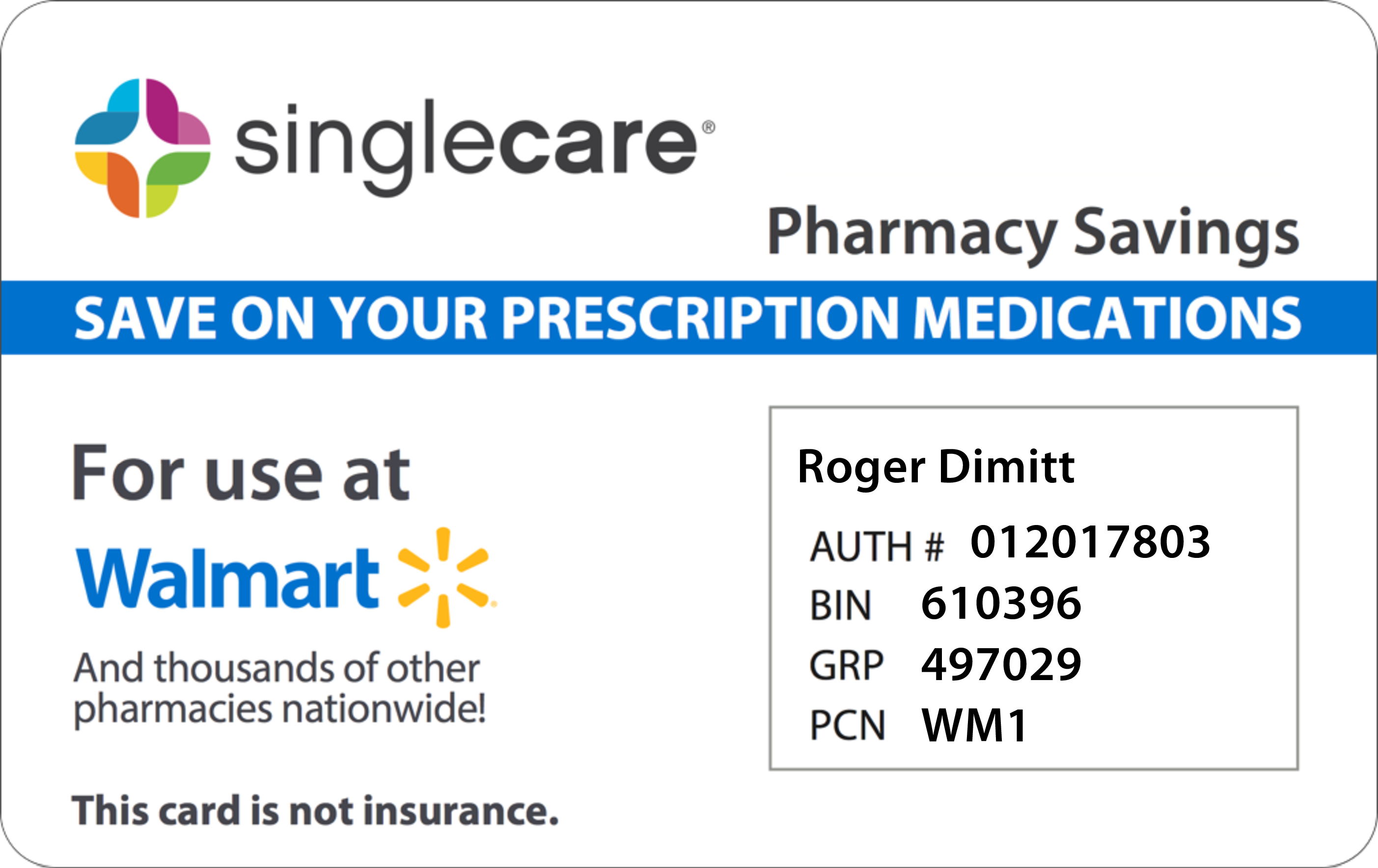 Here is your SingleCare card!