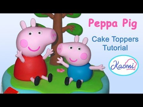 Peppa Pig And George Cake Toppers Como Hacer A Peppa Pig Y A