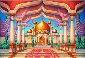 7x5ft Aladdin Palace Castle Pillars Hall Custom Photo Background