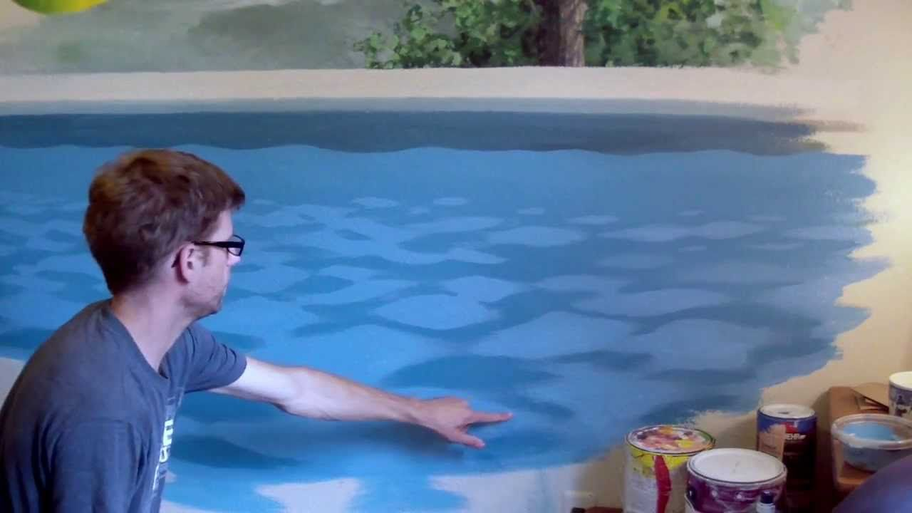 How to paint pool water pt 2 | art how to | Pool water, Water, Painting
