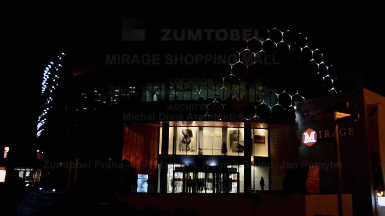 Zumtobel lighting mirage shopping center facades led media