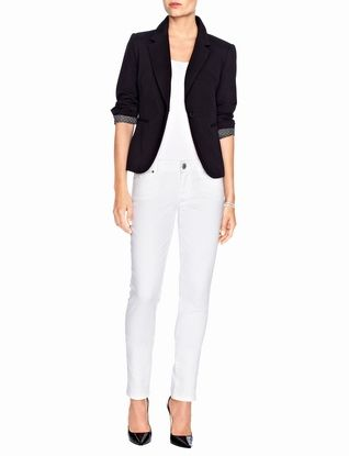 Ponte Knit One-Button Jacket- the limited