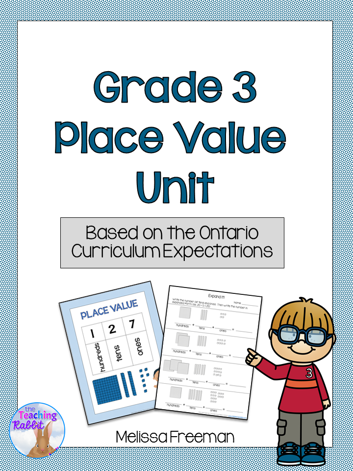 Place Value Unit (Grade 3) Place values, Ontario