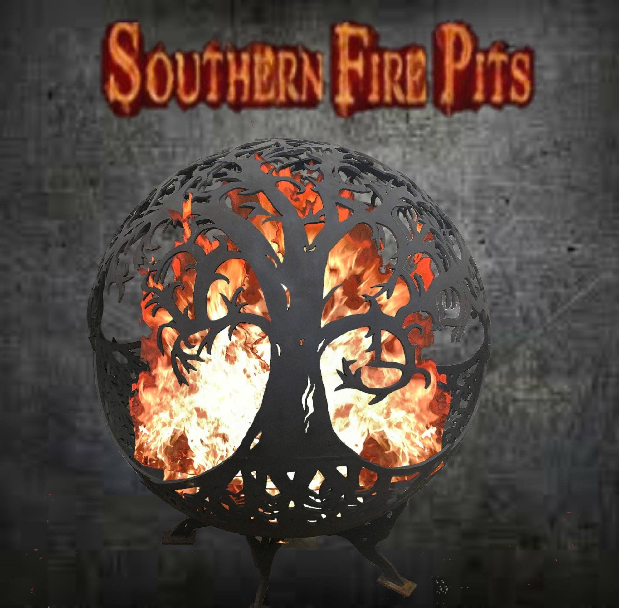 southern fire pits metal artist mayo fl garden inspiration