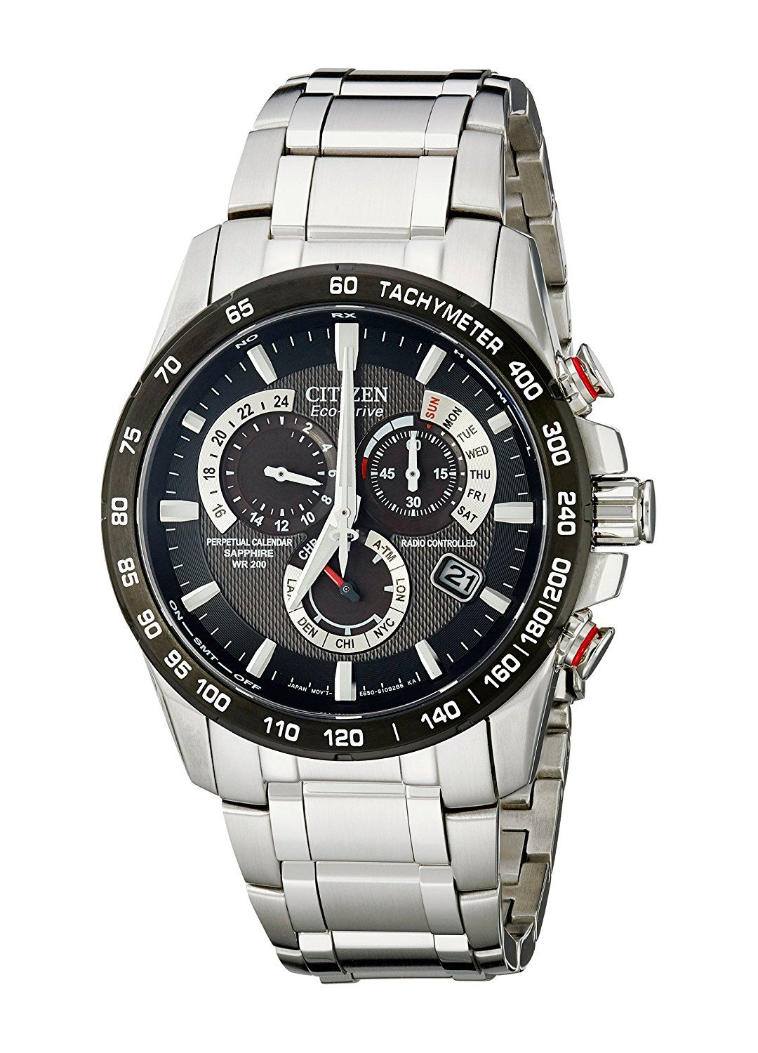 310c0731317 Citizen Eco-Drive Men s AT4008-51E Perpetual Chrono A-T Stainless Steel  Watch