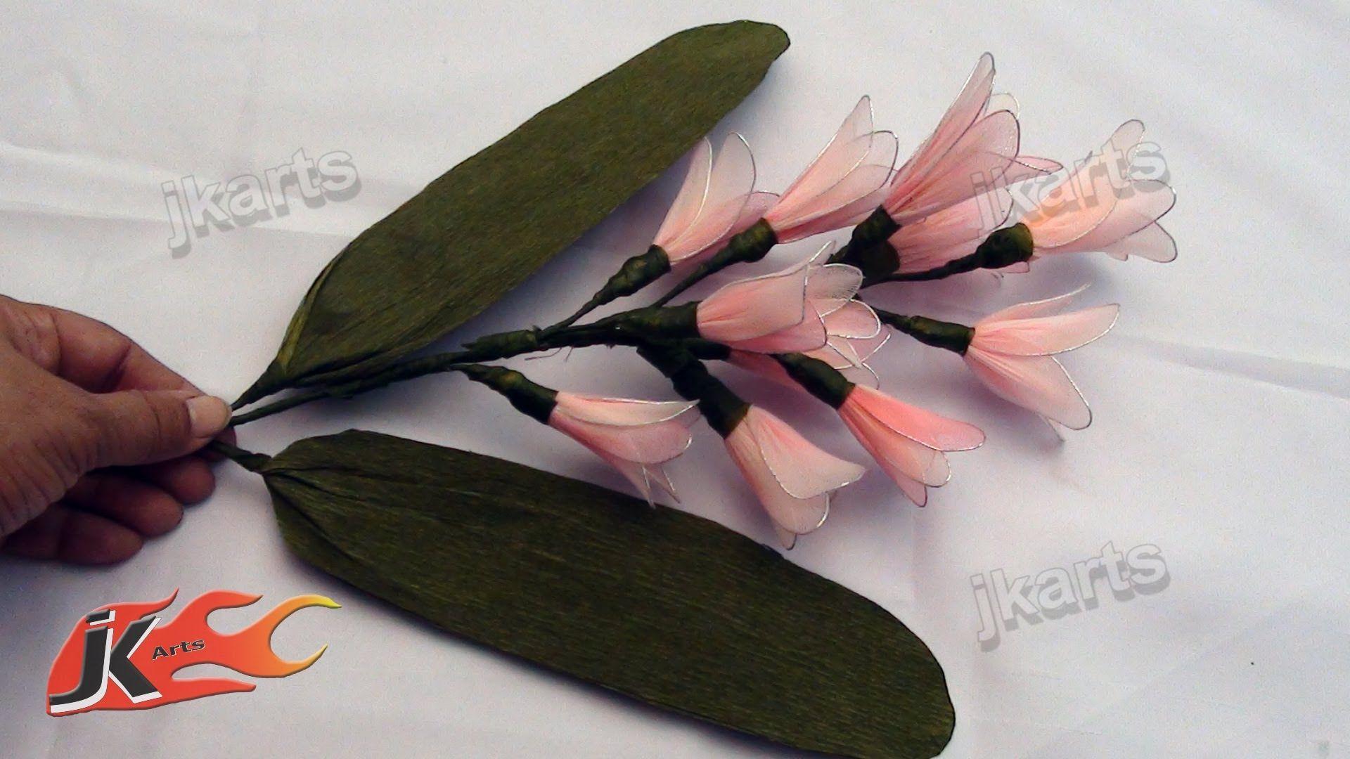 Diy Stocking Flower Bouquet Hyacinth Jk Arts 113 Nylon Blommor