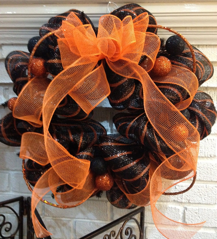 Where to buy Halloween Door Wreath Classic Orange  - 2015 Halloween - halloween front door decor