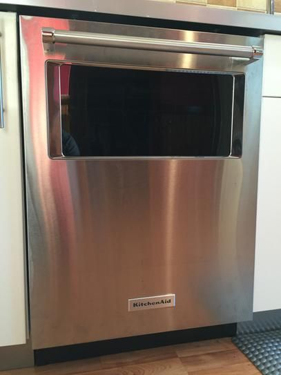 Kitchenaid Dishwasher Stainless Steel kitchenaid 24 in. top control dishwasher in stainless steel with