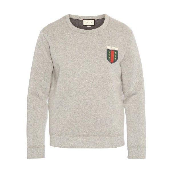 02a22bad15a Gucci Logo-appliqué crew-neck neoprene sweatshirt ( 1