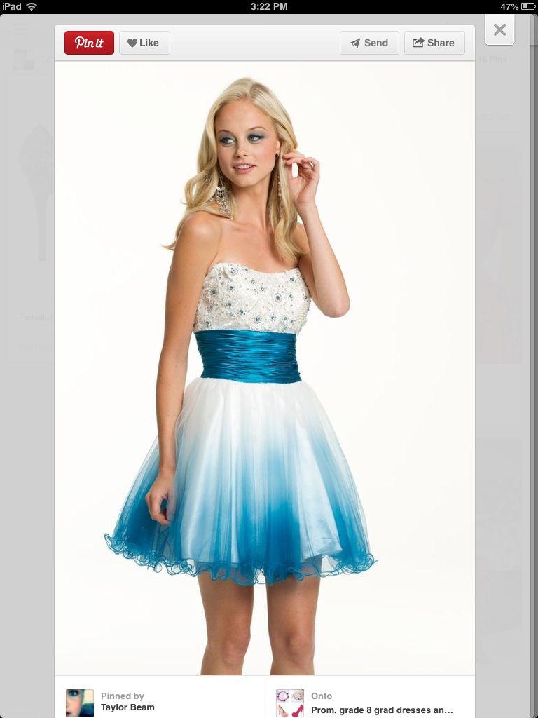 White and blue dress dress obsessed pinterest dresses prom