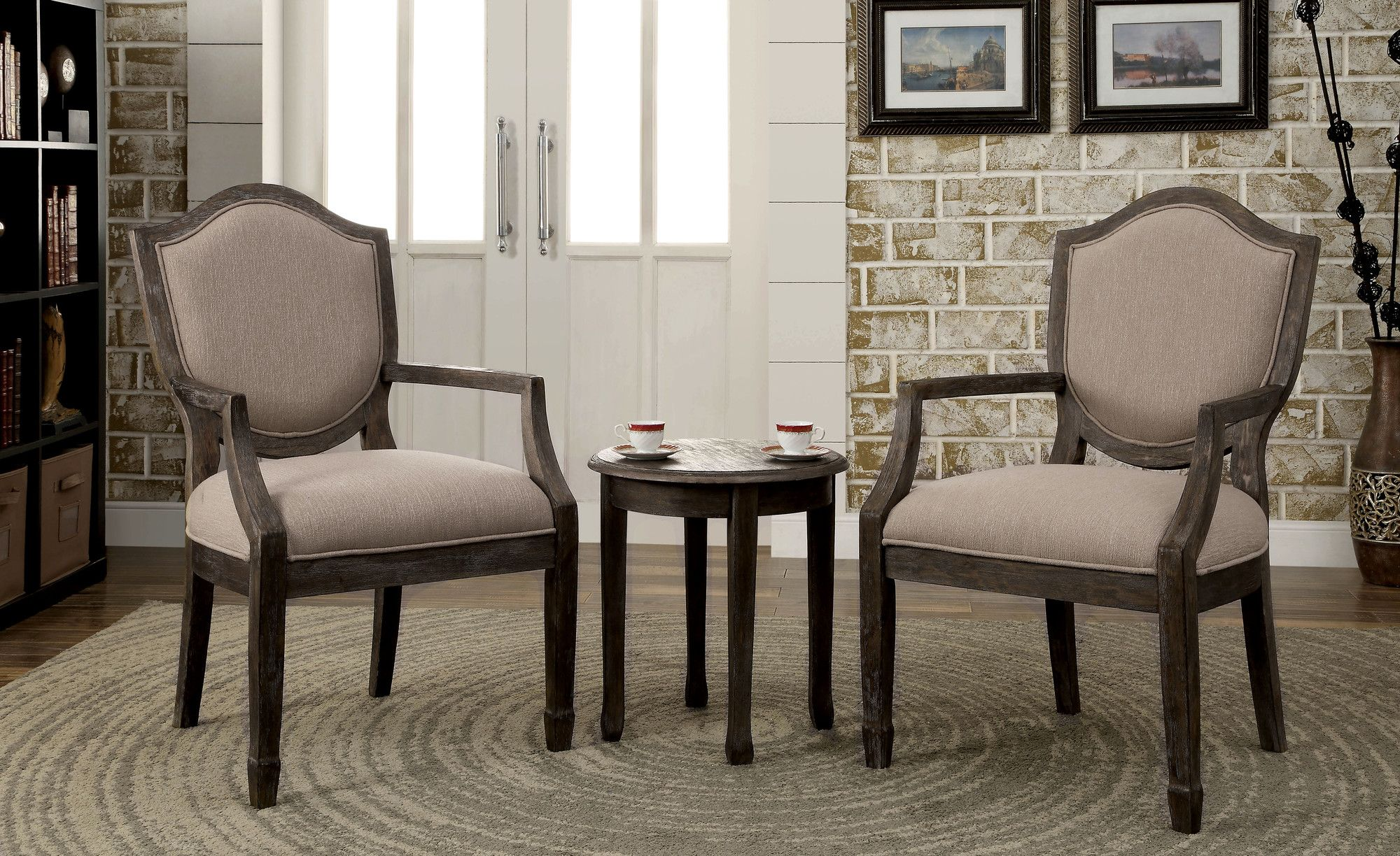 Hokku Designs Bernetta 3 Piece Cotton Arm Chair and Side ...