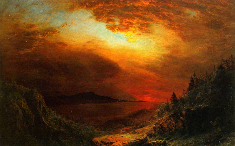Twilight: Mount Desert Island, Maine, 1865 Frederic Edwin Church ...