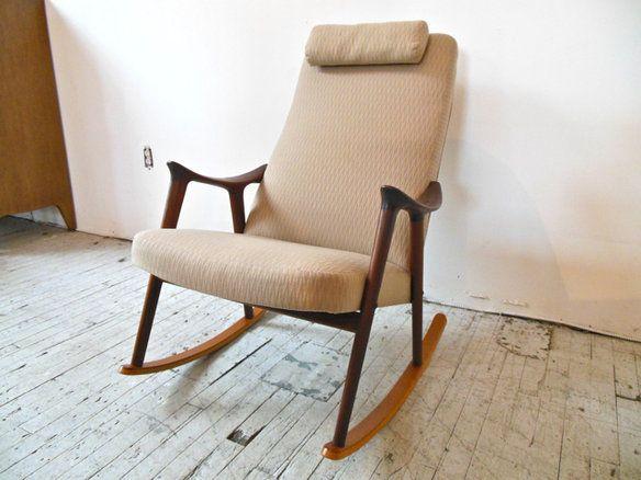 Sculpted Teak Danish Modern Rocking Chair In Williamsburg, Brooklyn, NY,  USA ~ Krrb