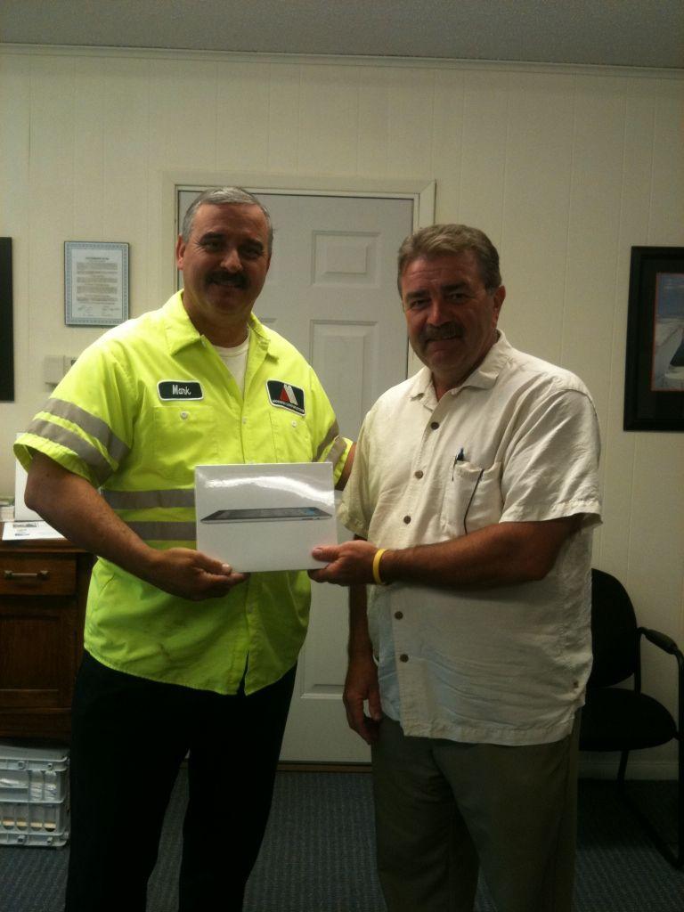 Ipad winner of the larsen insurance team referral reward