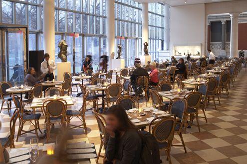Petrie Court Café and Wine Bar, inside Met Museum of Art ... a ...
