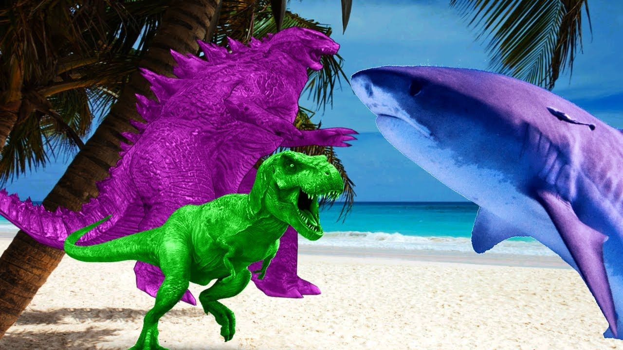 Dinosaur And Godzilla Vs Shark | Dinosaurs Movies For Children Shark Cartoons For Children | Rhymes https://youtu.be/6FHnqXzp_GY