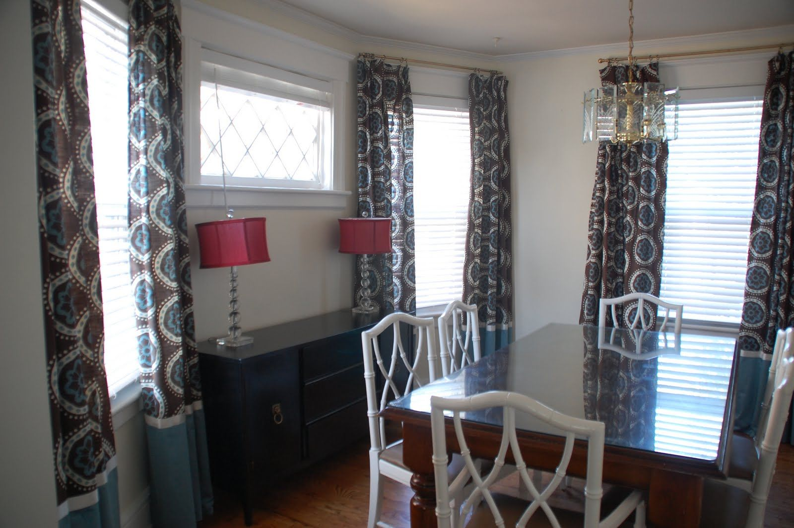 Dining room window coverings  small dining room curtain ideas  apartment  pinterest  dining